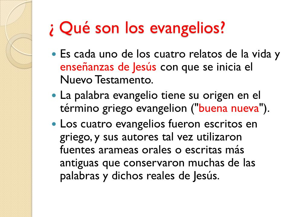 El Evangelio Ppt Descargar