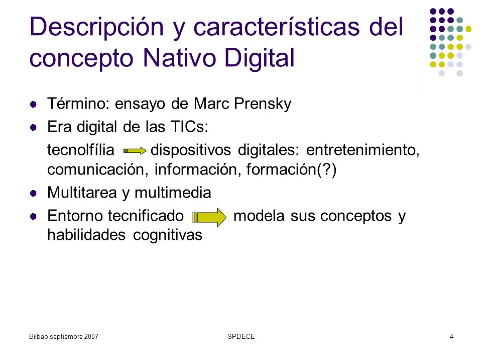 Descripción y características del concepto Nativo Digital