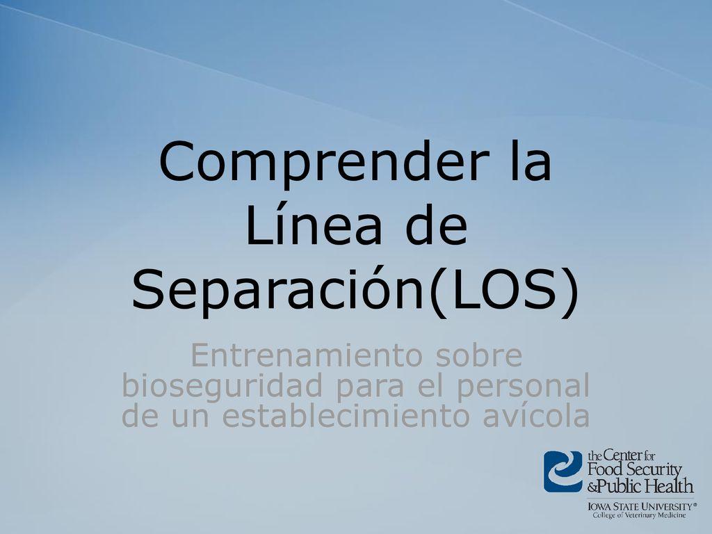 76dcc339b16c Comprender la Línea de Separación(LOS) - ppt descargar