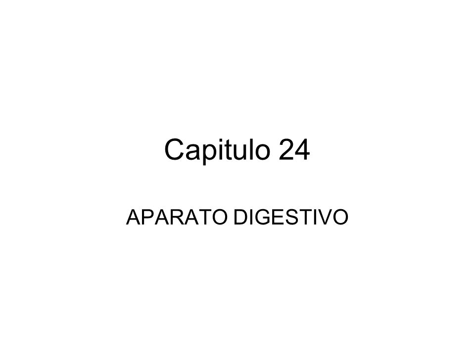 Capitulo 24 APARATO DIGESTIVO. - ppt descargar