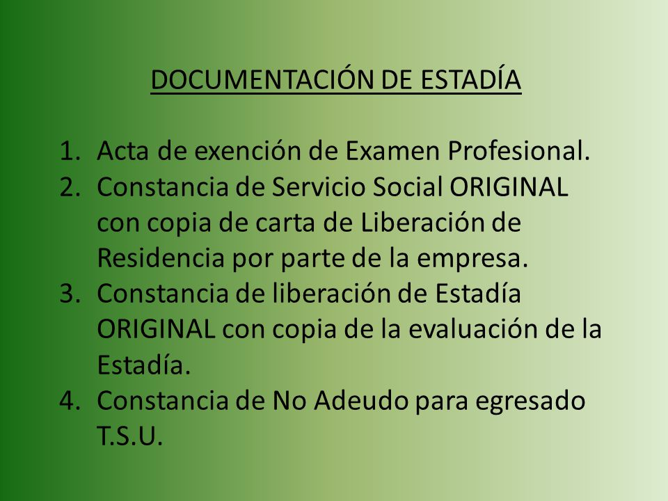 DOCUMENTACIÓN DE ESTADÍA