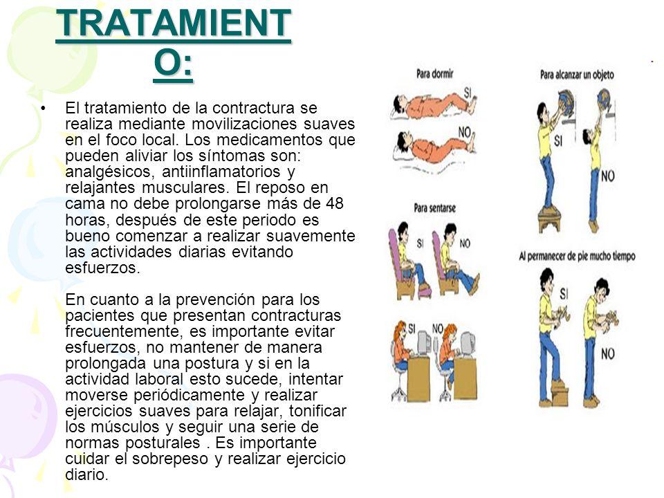 Antiinflamatorios para contracturas musculares