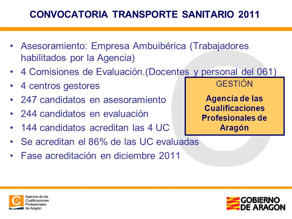 CONVOCATORIA TRANSPORTE SANITARIO 2011