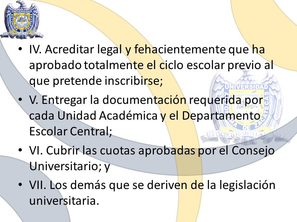 IV. Acreditar legal y fehacientemente que ha aprobado totalmente el ciclo escolar previo al que pretende inscribirse;