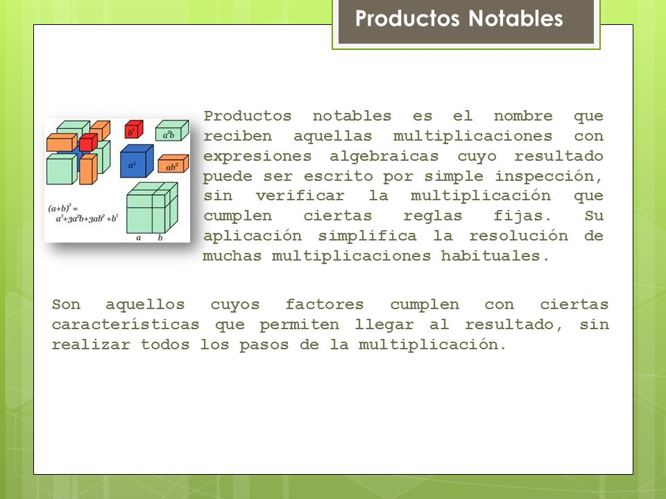 Productos Notables