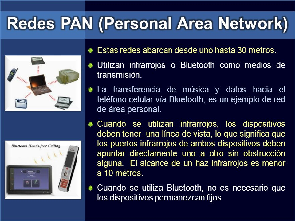 Redes PAN (Personal Area Network)