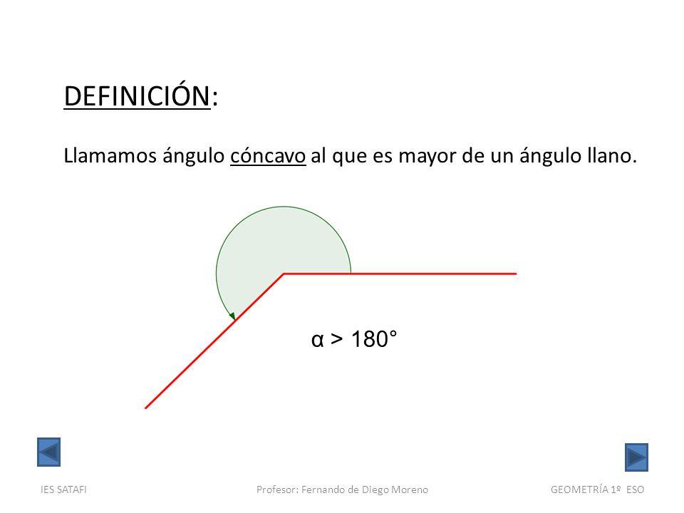 ecdb9c075d 19 Profesor: Fernando de Diego Moreno DEFINICIÓN: Llamamos ángulo cóncavo  al que es ...