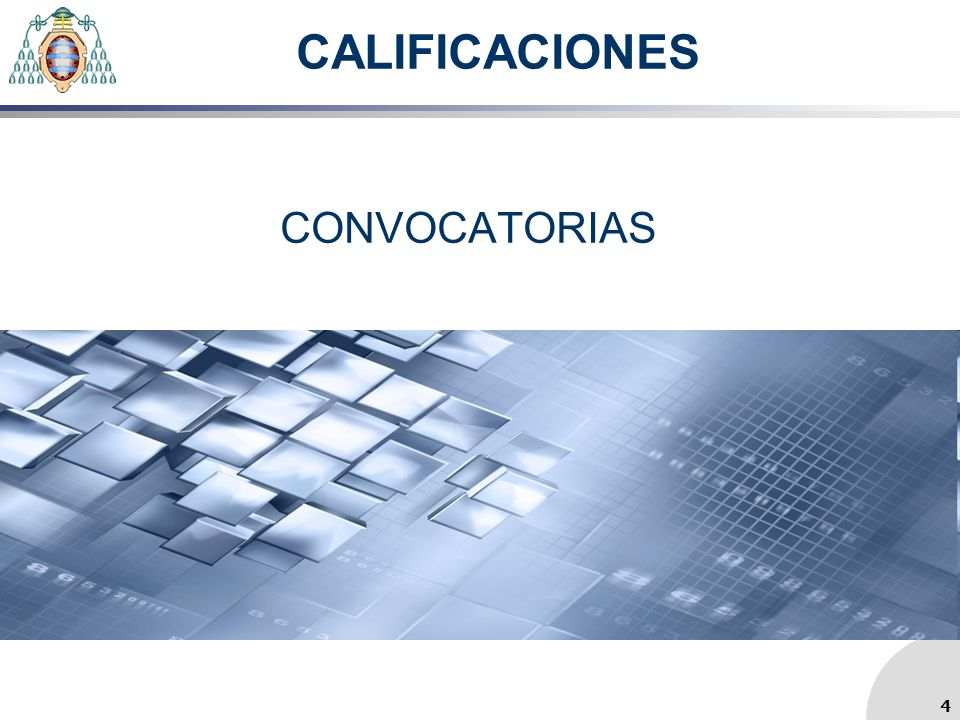 CALIFICACIONES CONVOCATORIAS 4 4
