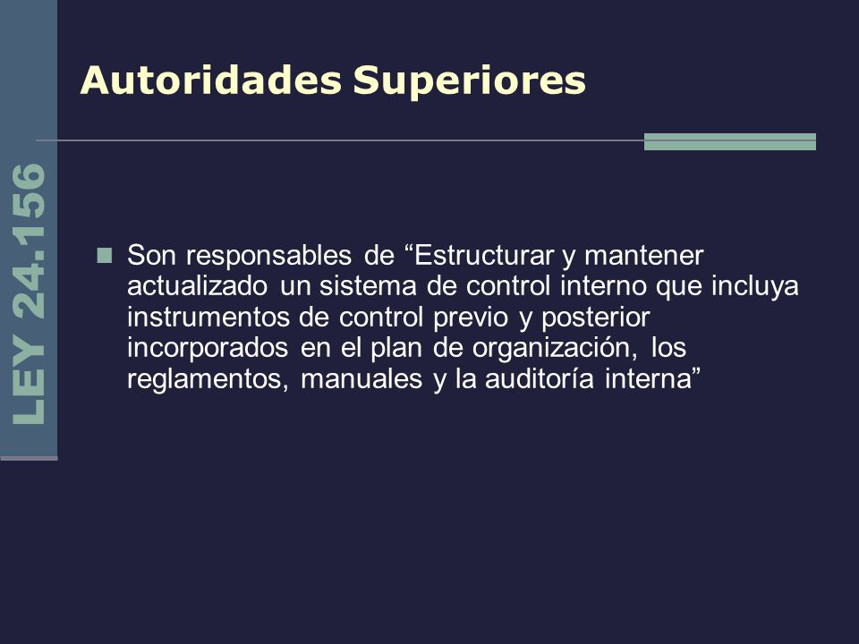 Autoridades Superiores