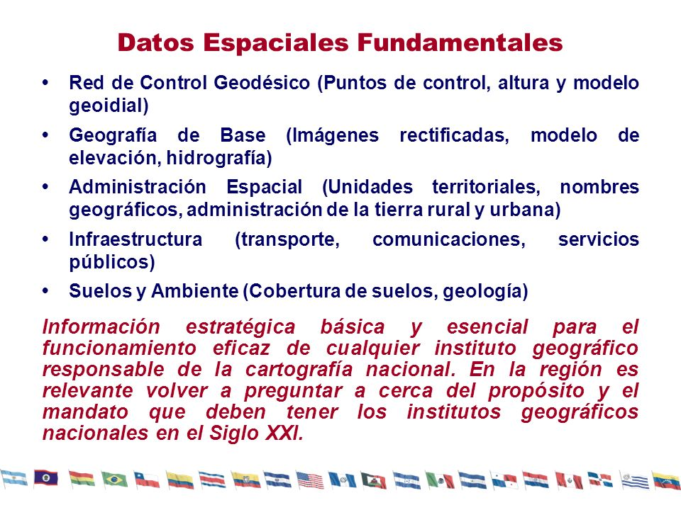 Datos Espaciales Fundamentales