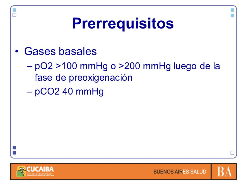 Prerrequisitos Gases basales