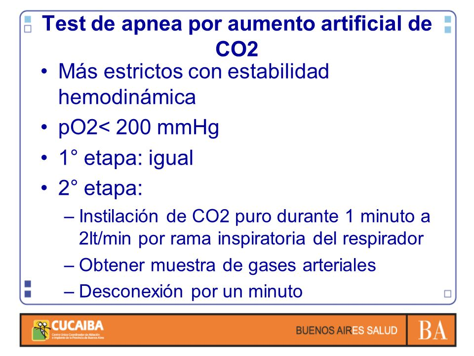 Test de apnea por aumento artificial de CO2
