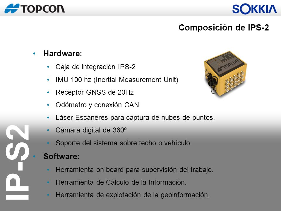 Composición de IPS-2 Hardware: Software: Caja de integración IPS-2