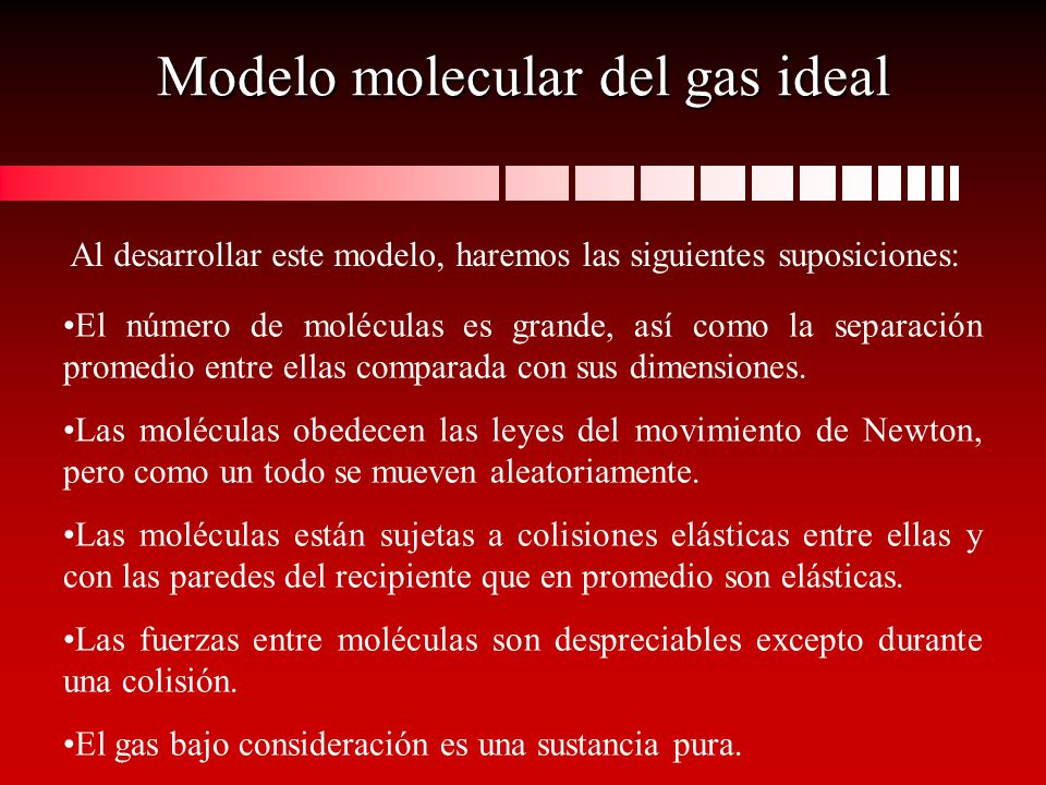 Modelo molecular del gas ideal