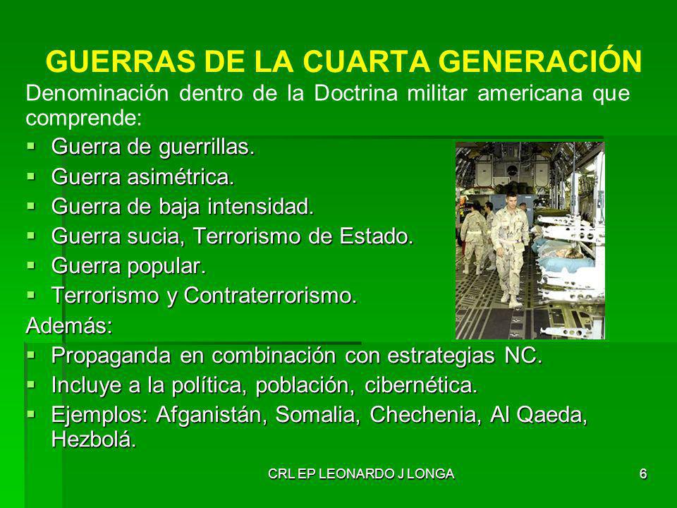 OPERACIONES MILITARES EMERGENTES CRL INF LEONARDO J. LONGA LÓPEZ ...