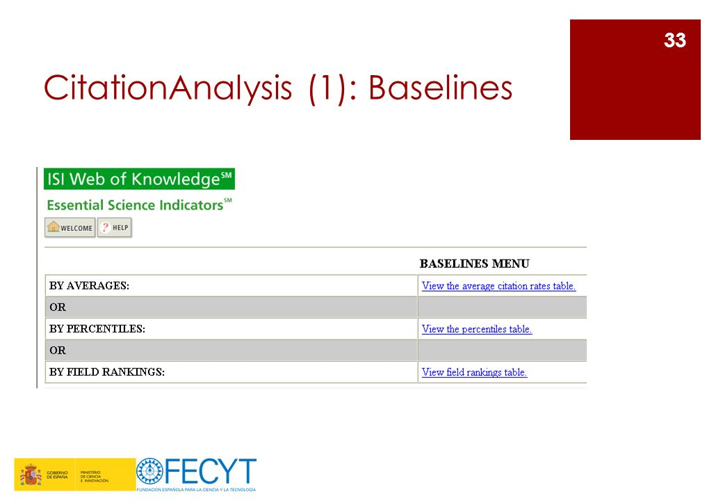 CitationAnalysis (1): Baselines
