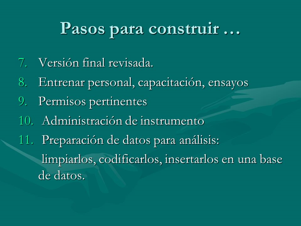 Pasos para construir … Versión final revisada.