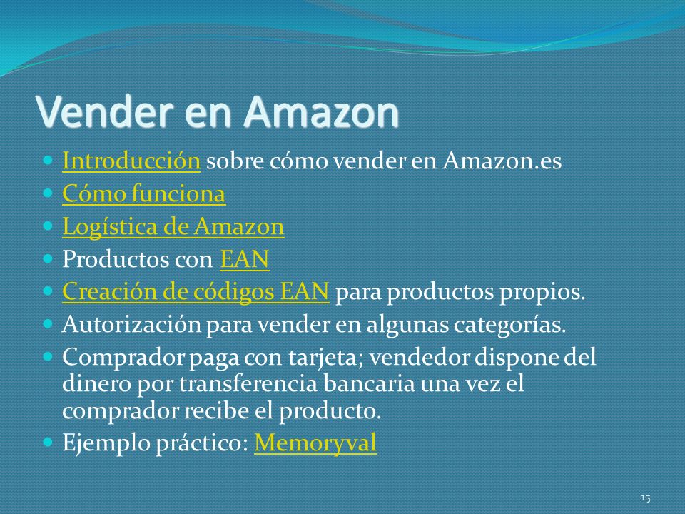 Vender en Amazon Introducción sobre cómo vender en Amazon.es