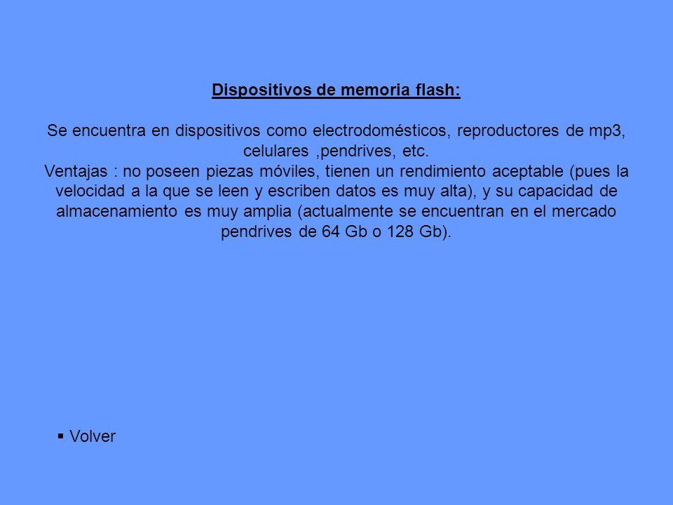 Dispositivos de memoria flash:
