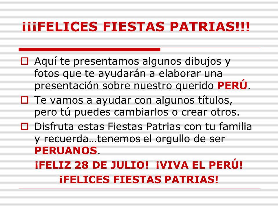 Proyecto De Fiestas Patrias Elaborado Por Nombre 1º Grado Sección