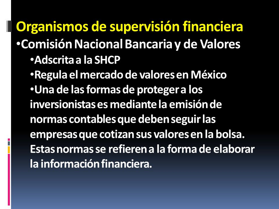 Organismos de supervisión financiera