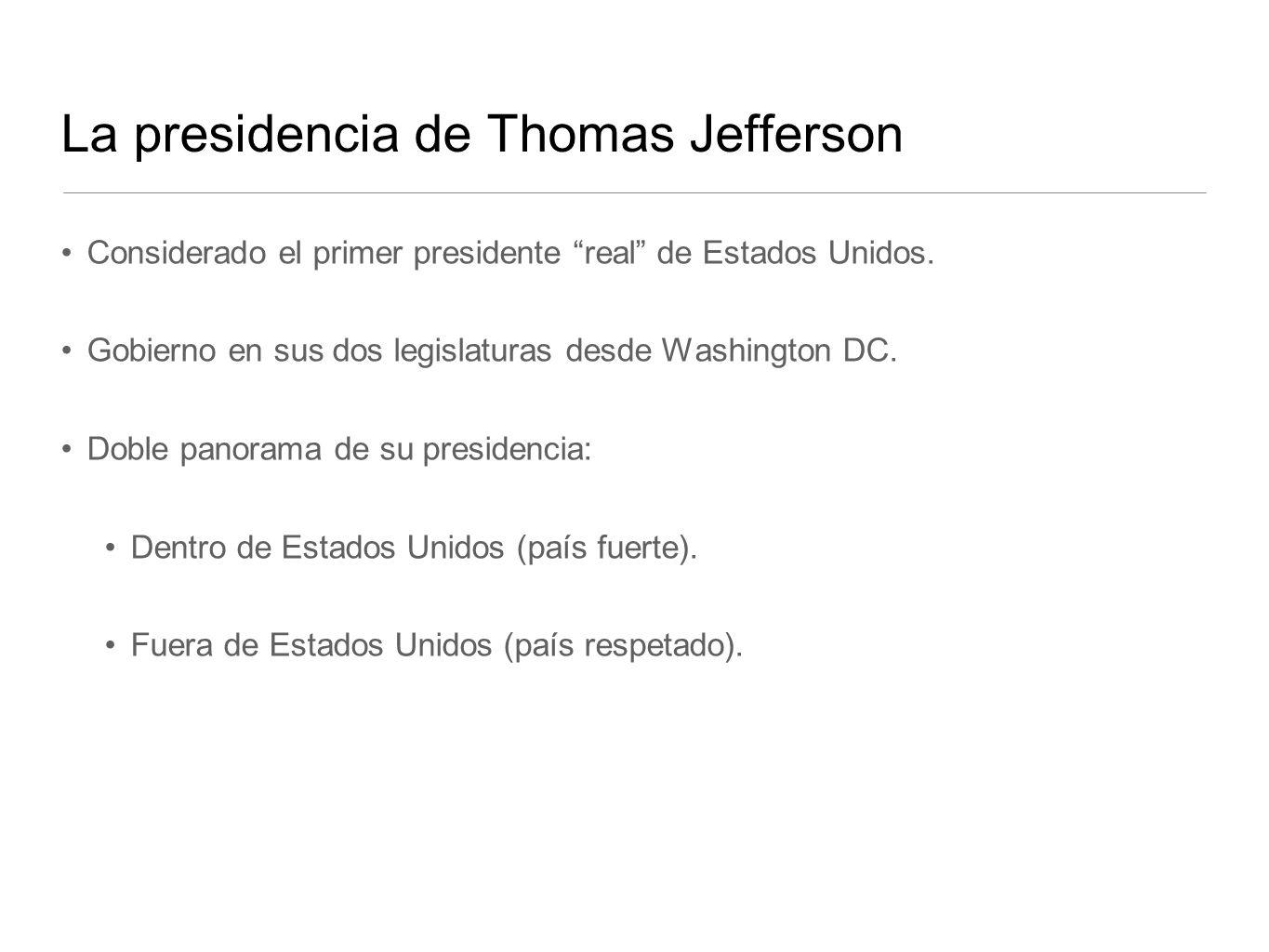 La presidencia de Thomas Jefferson