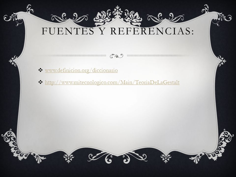 Fuentes y Referencias: