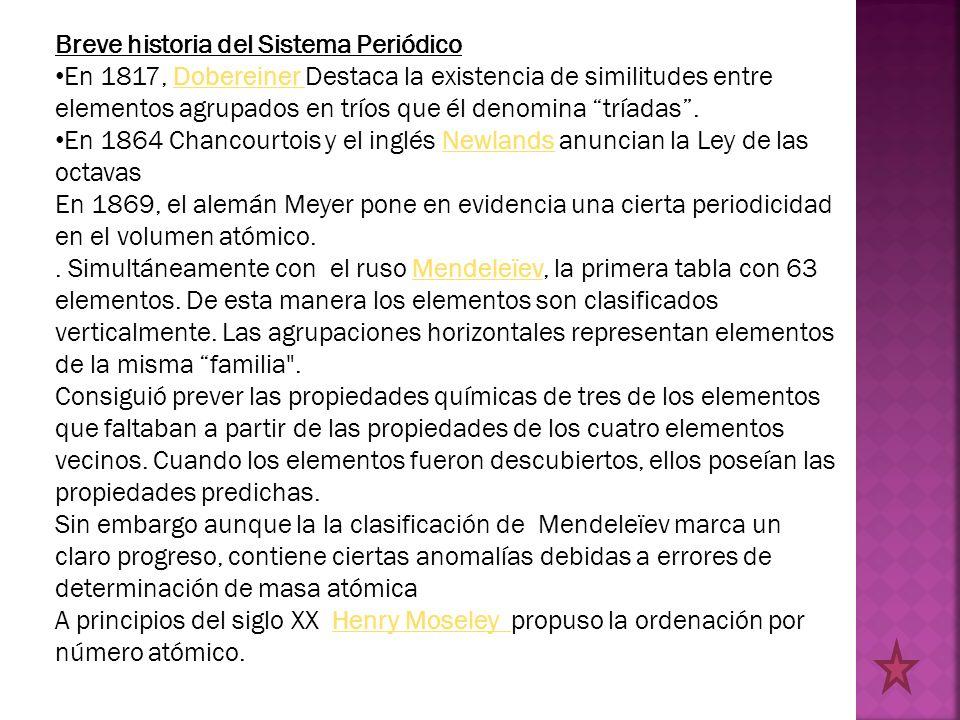 Tabla periodica y propiedades peridicas de los elementos ppt breve historia del sistema peridico urtaz Images