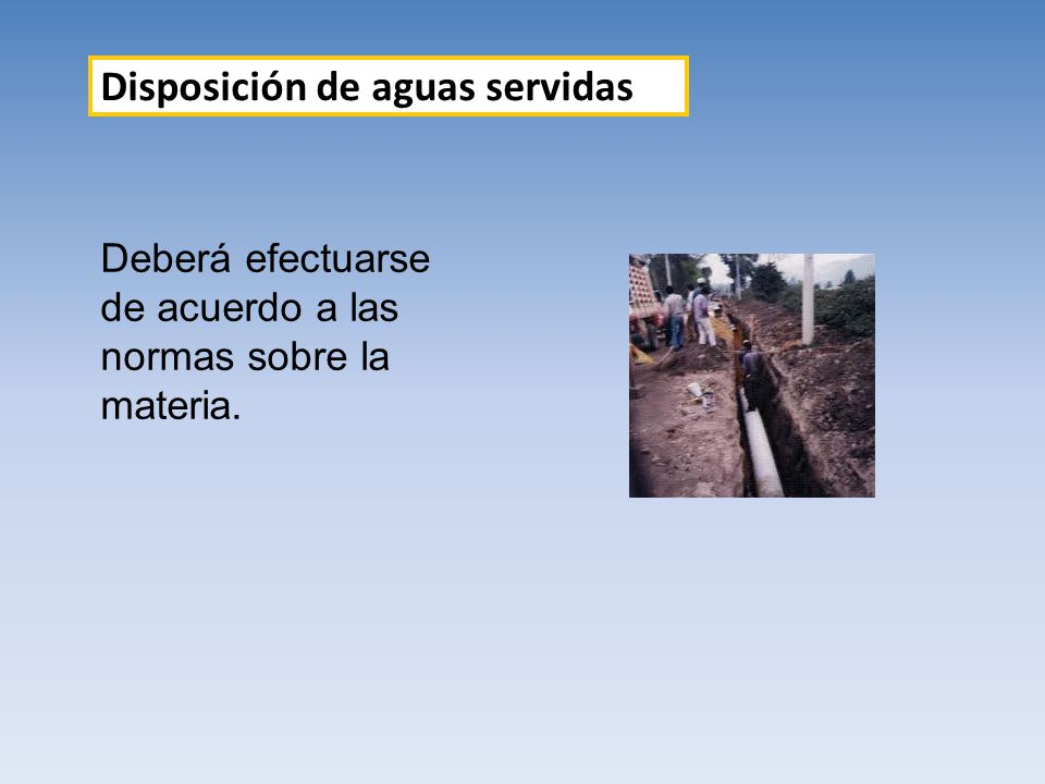 Disposición de aguas servidas