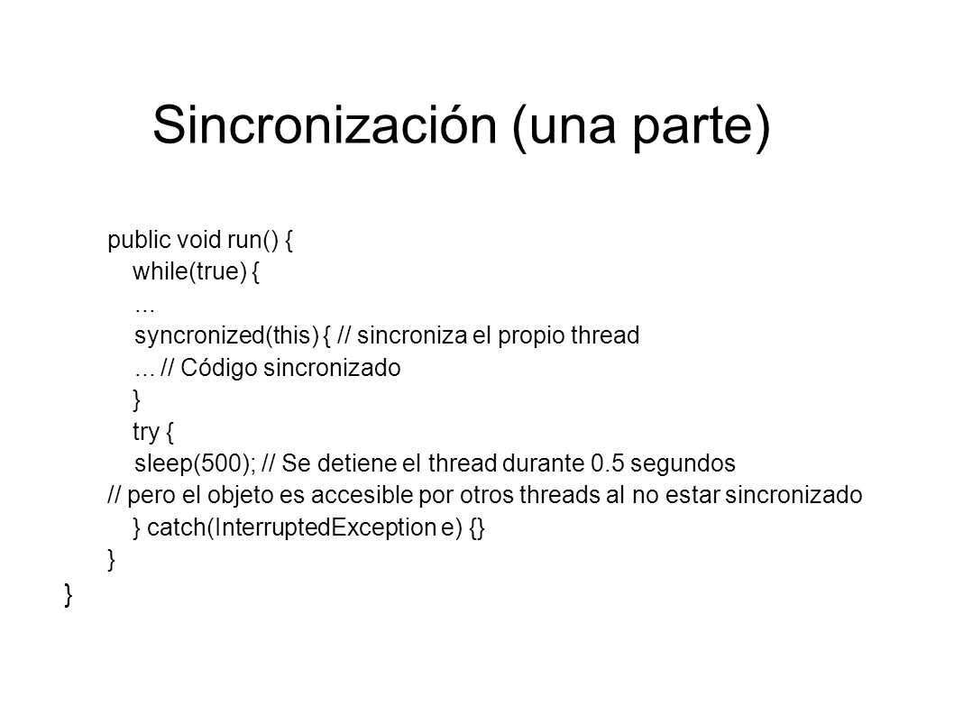 Sincronización (una parte)