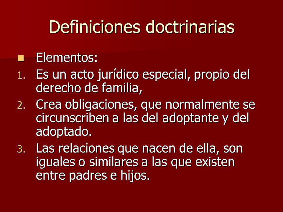 Definiciones doctrinarias