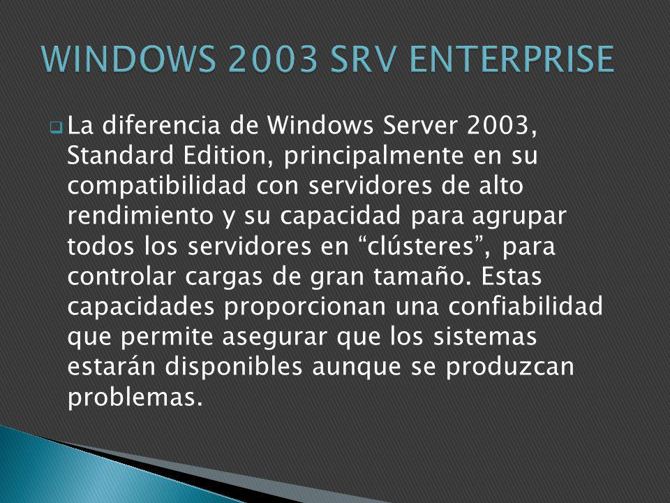 WINDOWS 2003 SRV ENTERPRISE