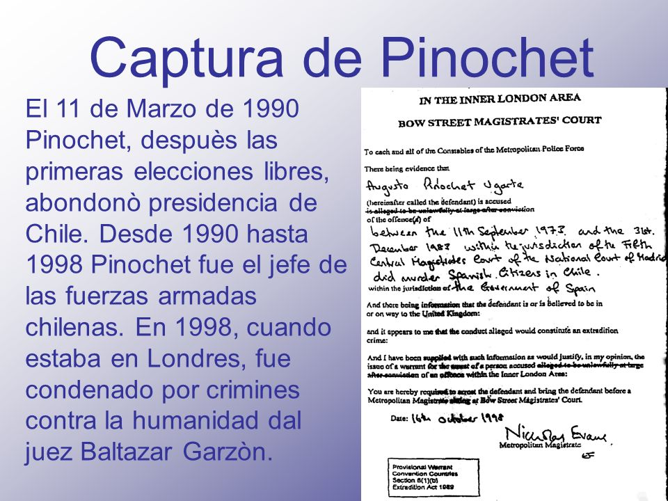 Captura de Pinochet