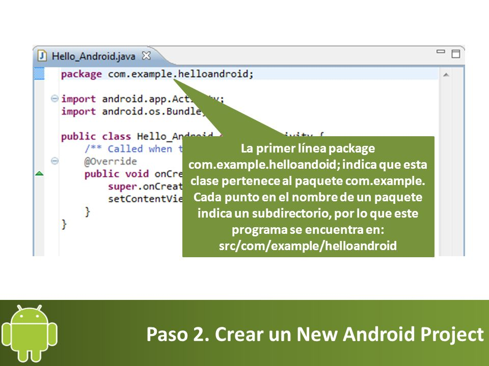 Paso 2. Crear un New Android Project