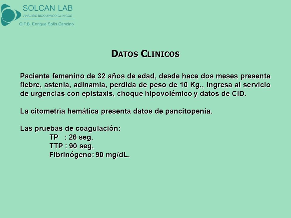 DATOS CLINICOS