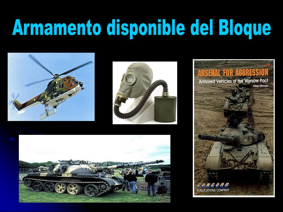 Armamento disponible del Bloque
