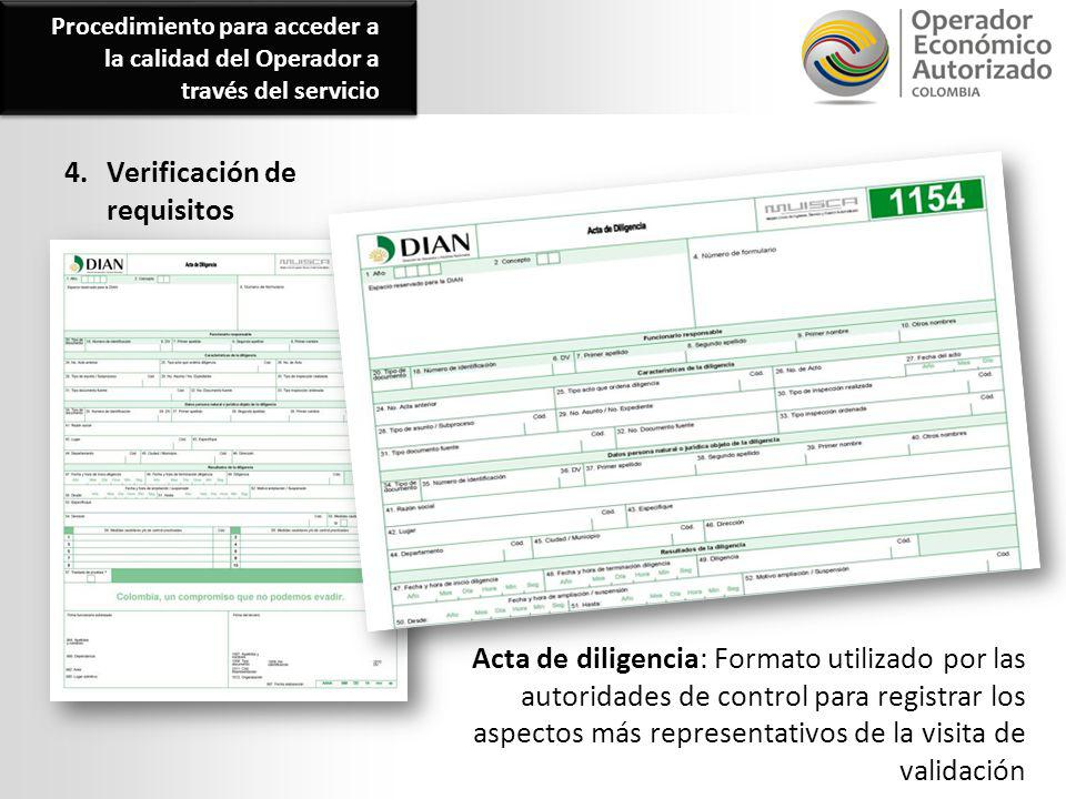 4. Verificación de requisitos