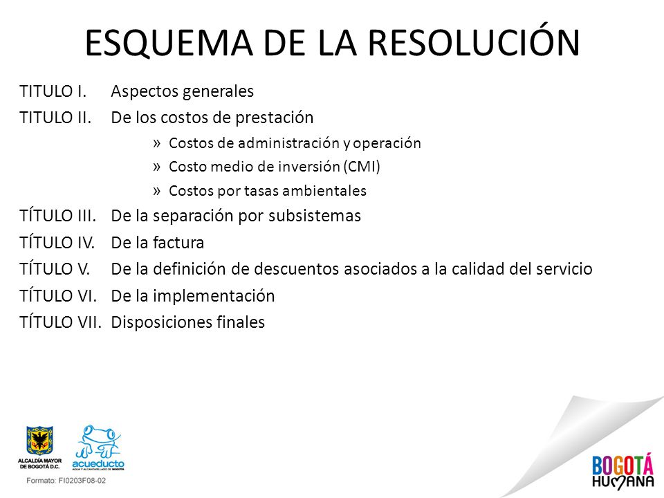 ESQUEMA DE LA RESOLUCIÓN
