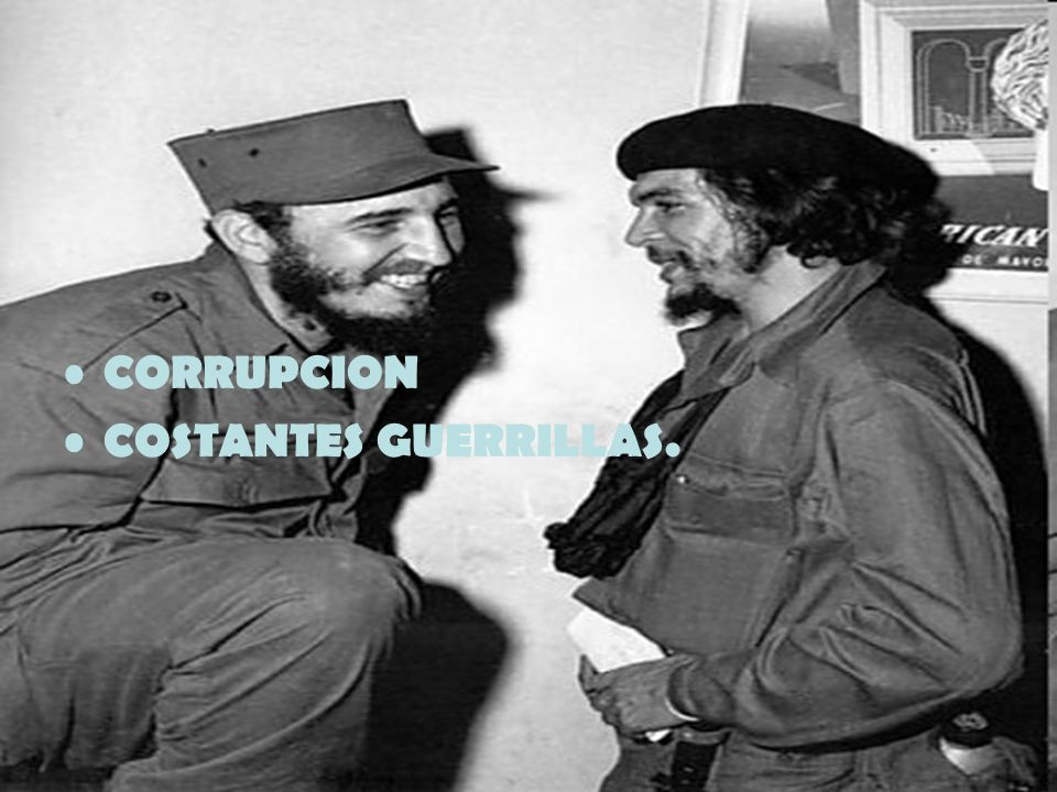 CORRUPCION COSTANTES GUERRILLAS.