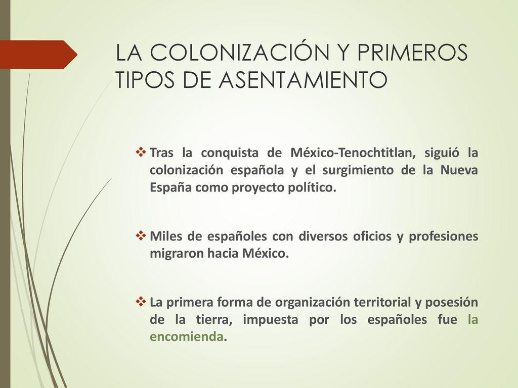 Tipos de colonización