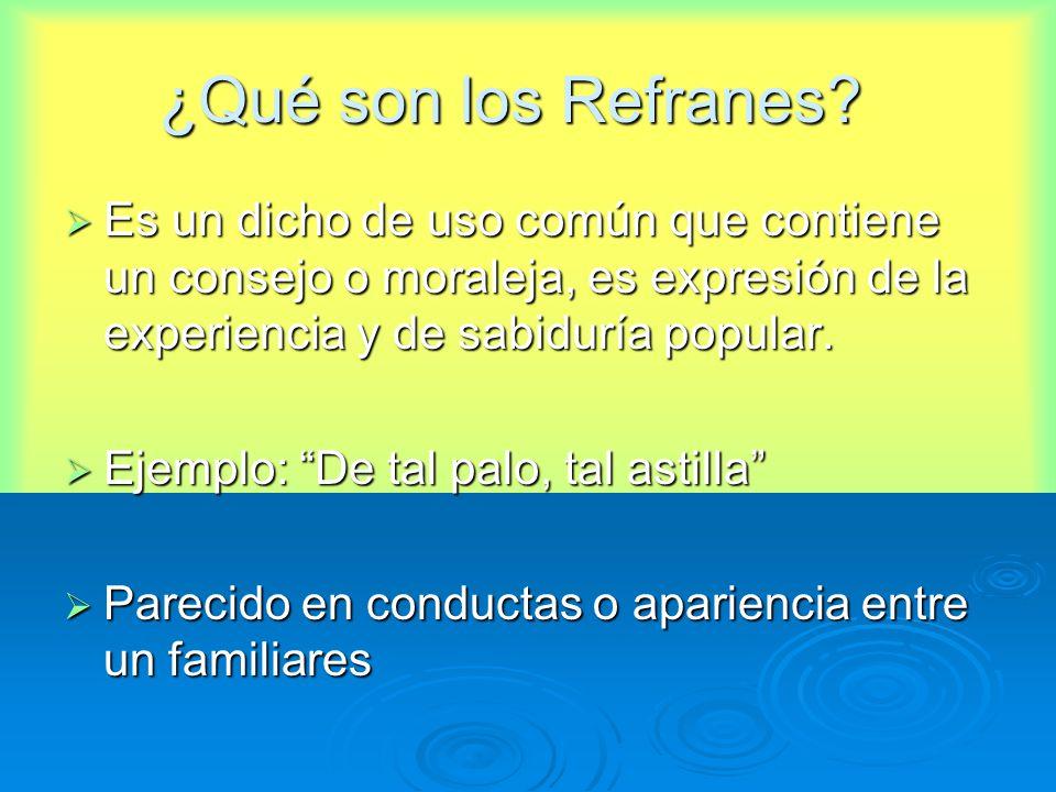 Refranes y dichos populares. - ppt descargar
