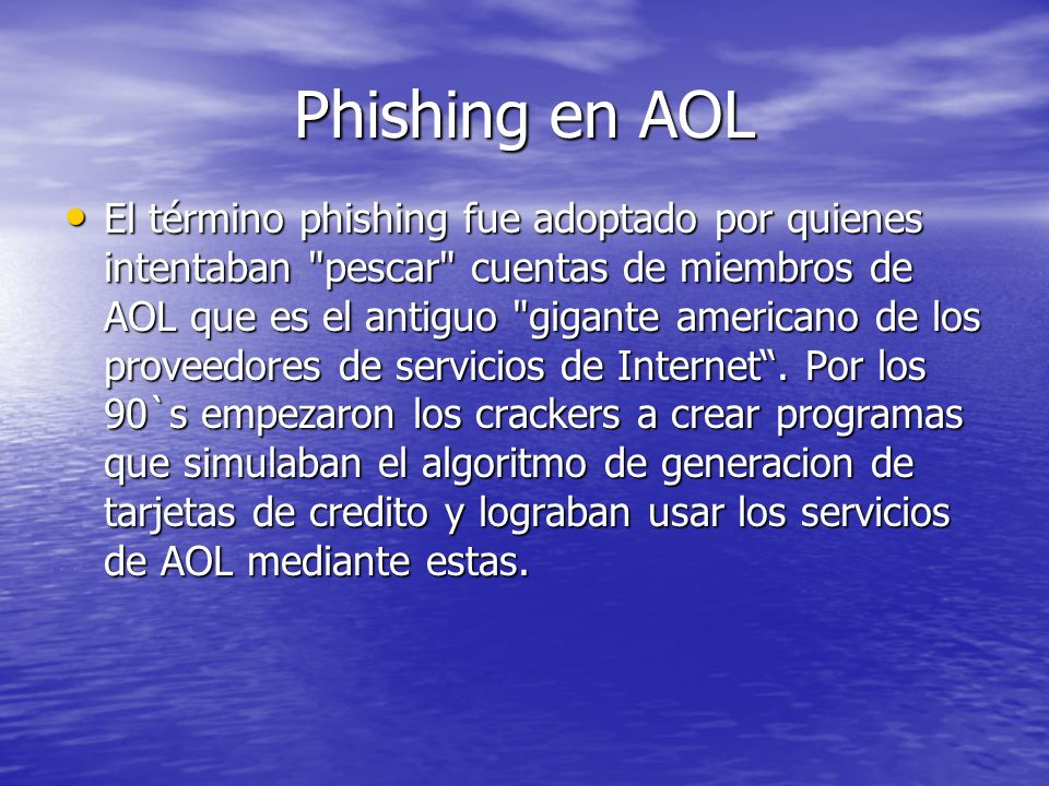Phishing en AOL