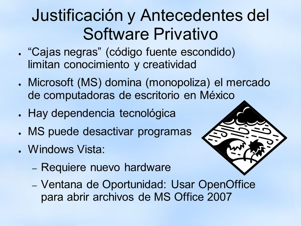 Justificación y Antecedentes del Software Privativo