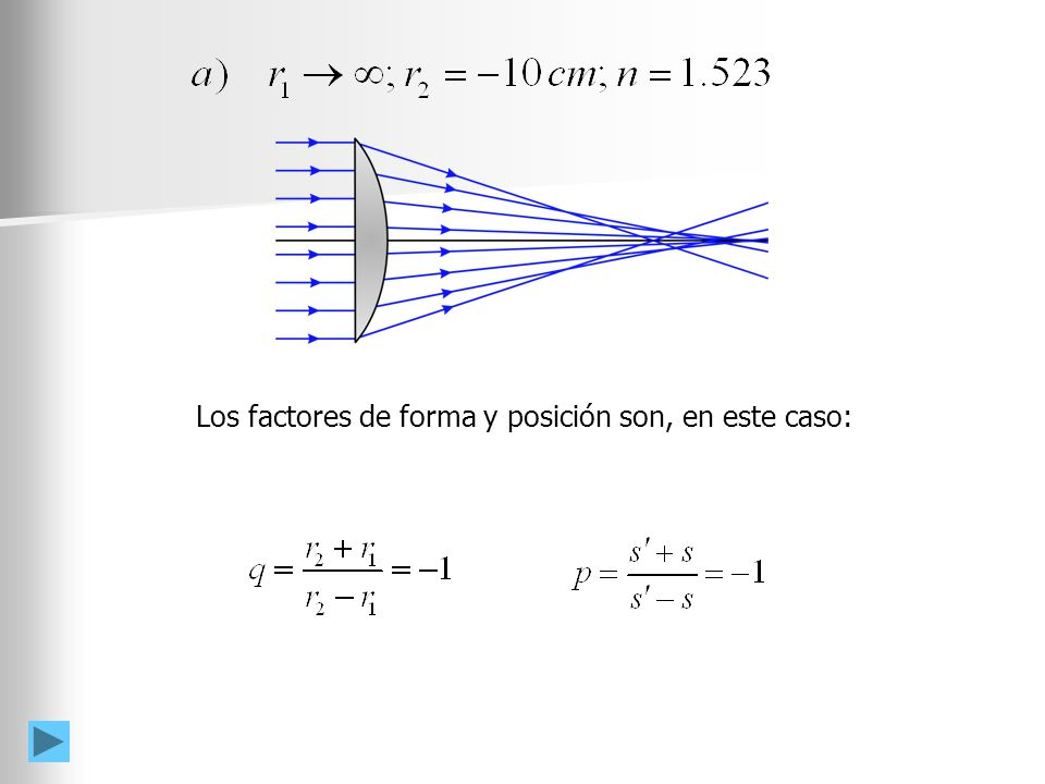 4d5309c67b Una lente delgada plano-convexa tiene un índice de refracción de. 2 Los  factores de forma y posición son, en este caso: