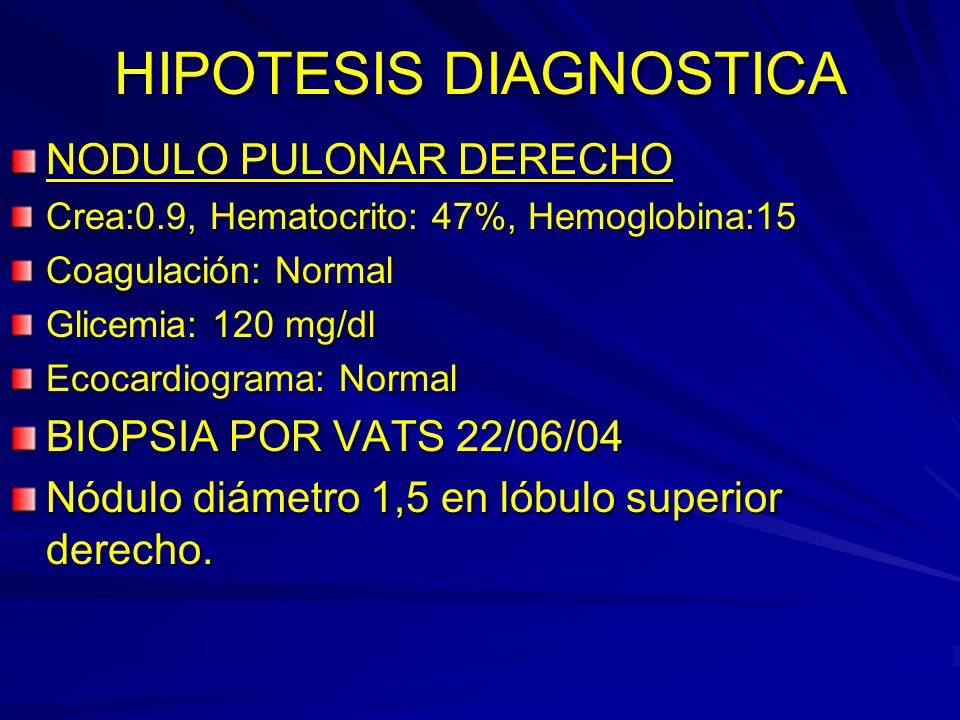 HIPOTESIS DIAGNOSTICA