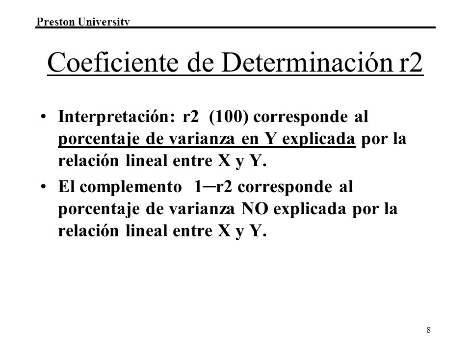 Coeficiente de Determinación r2
