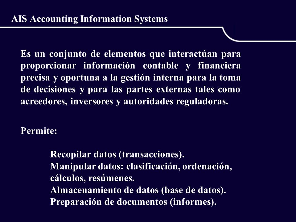AIS Accounting Information Systems