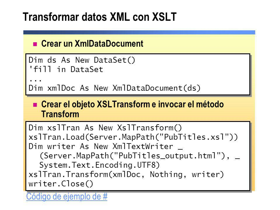 Transformar datos XML con XSLT