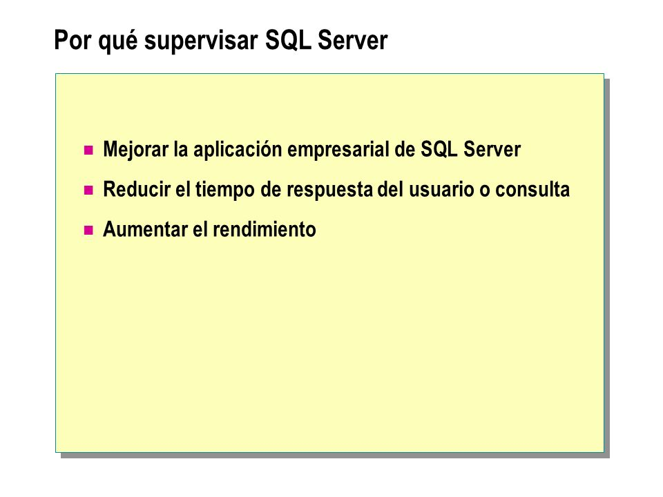 Por qué supervisar SQL Server