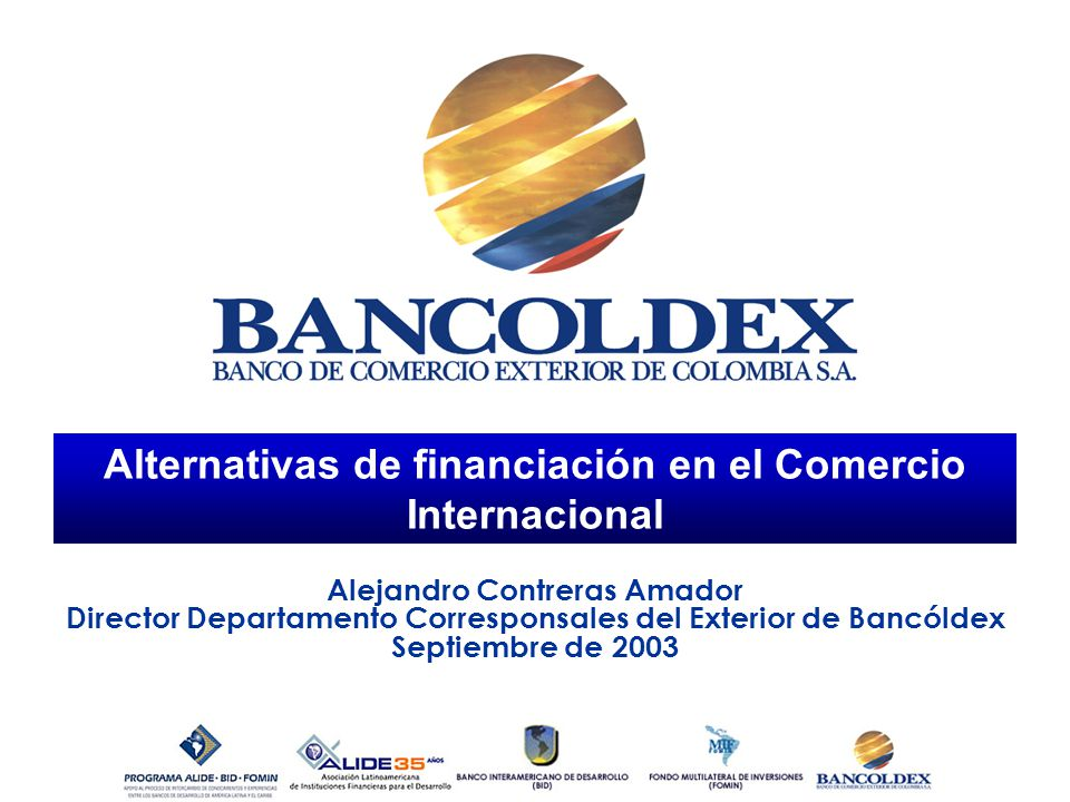 Alternativas de financiación en el Comercio Internacional
